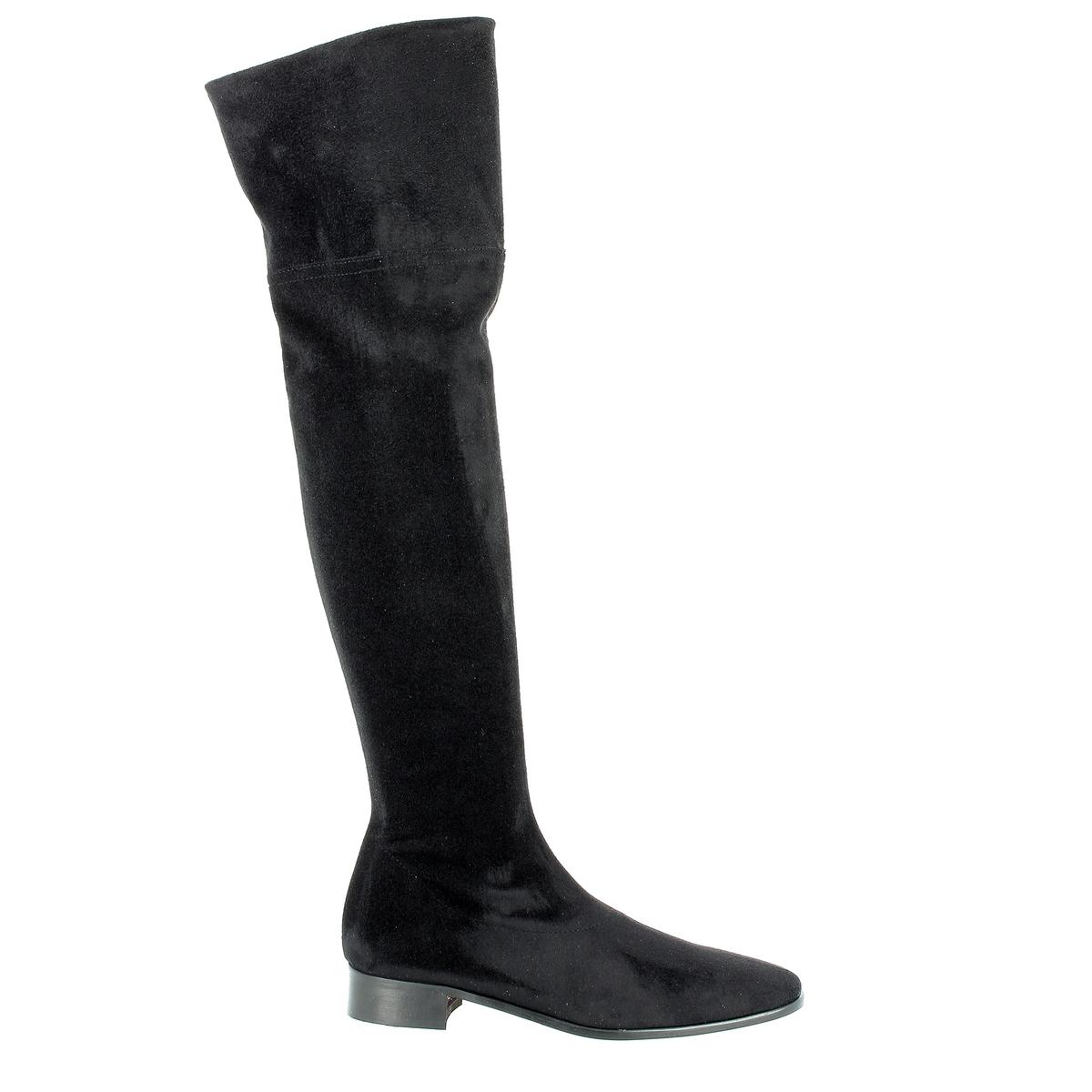 Ботфорты, BILTONПодкладка: Кожа и текстиль.          Стелька: Кожа.Подошва: Кожа и синтетика.                    Высота голенища: 57 см.  Форма каблука: Плоская.     Мысок: Круглый.        Застежка: На молнию.<br><br>Цвет: черный