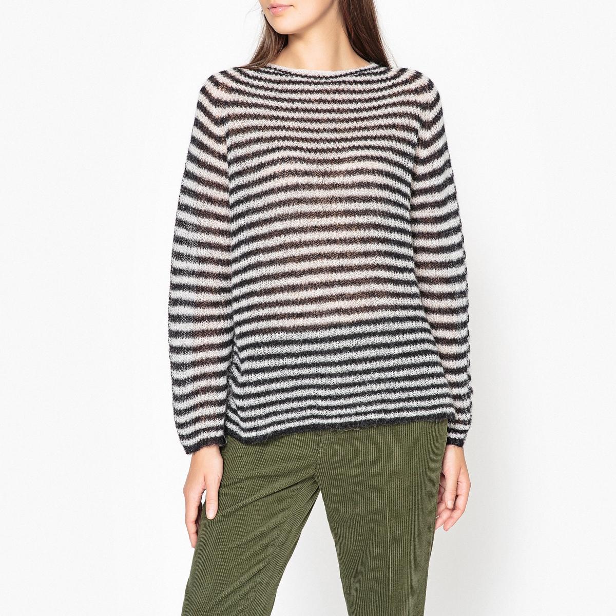 Пуловер в полоску с круглым вырезом TAPIO