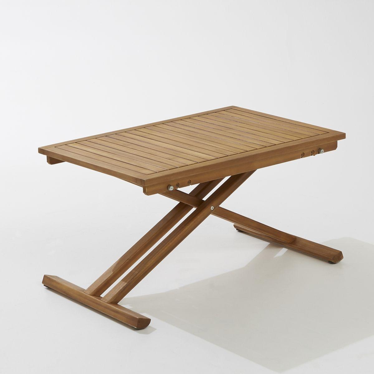 Table de jardin pliante en acacia et finition teck acacia Interieurs
