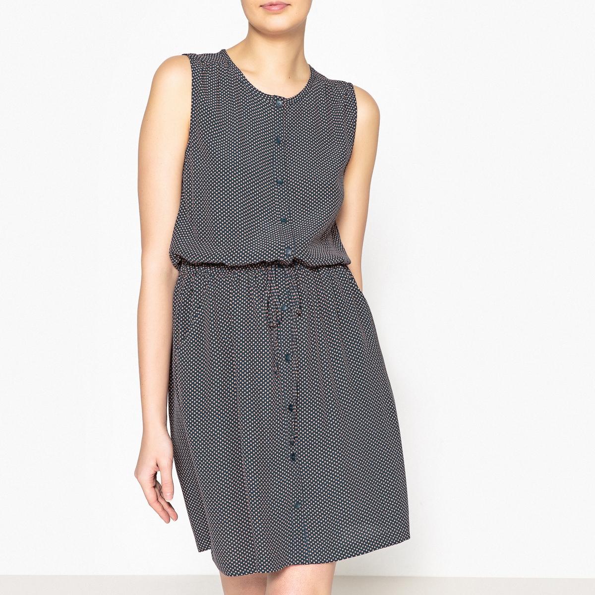 Платье расклешенное короткое с рисунком в горошек LAURE рубашка harris wilson harris wilson ha019emqpi73