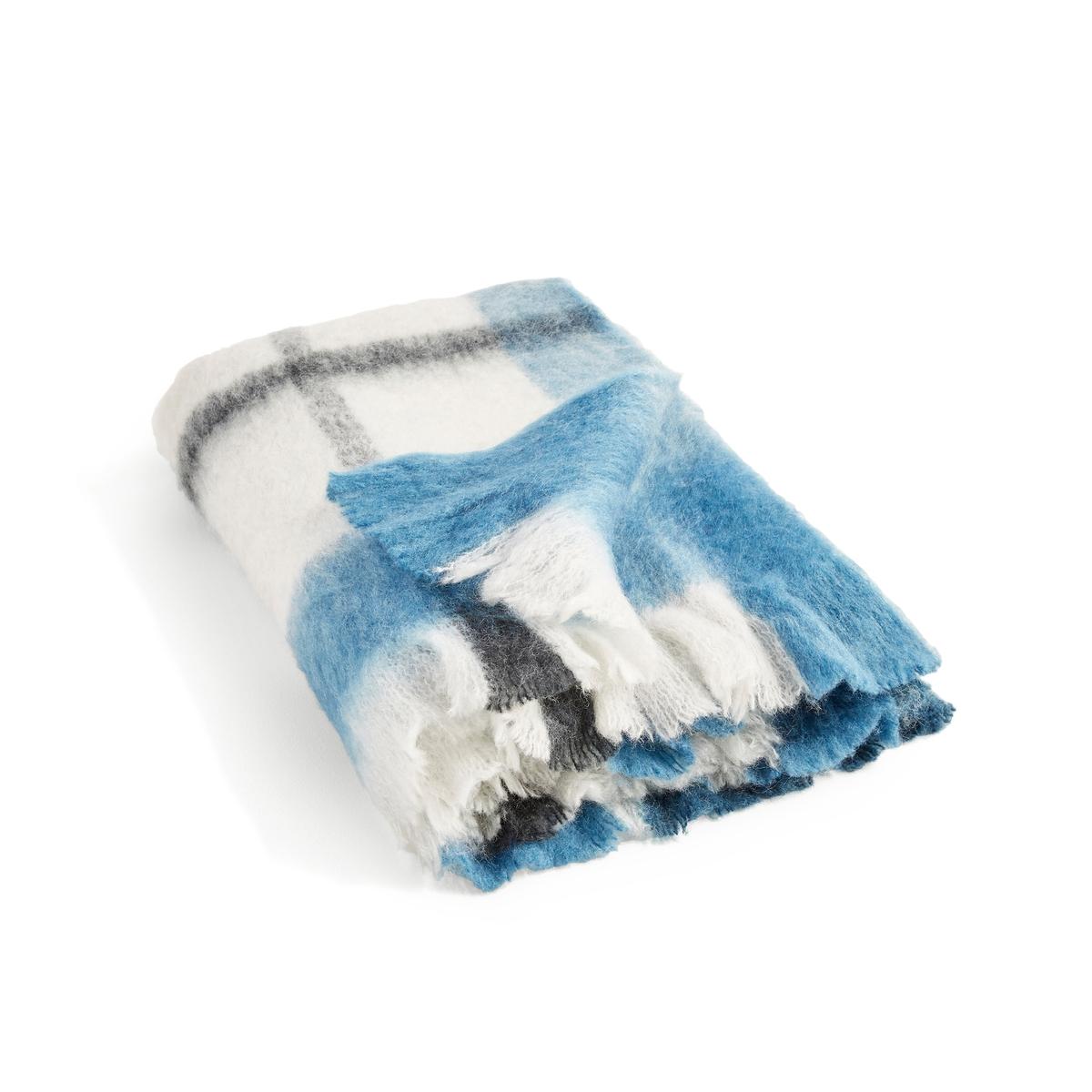 Плед La Redoute В клетку Ladak 130 x 170 см синий