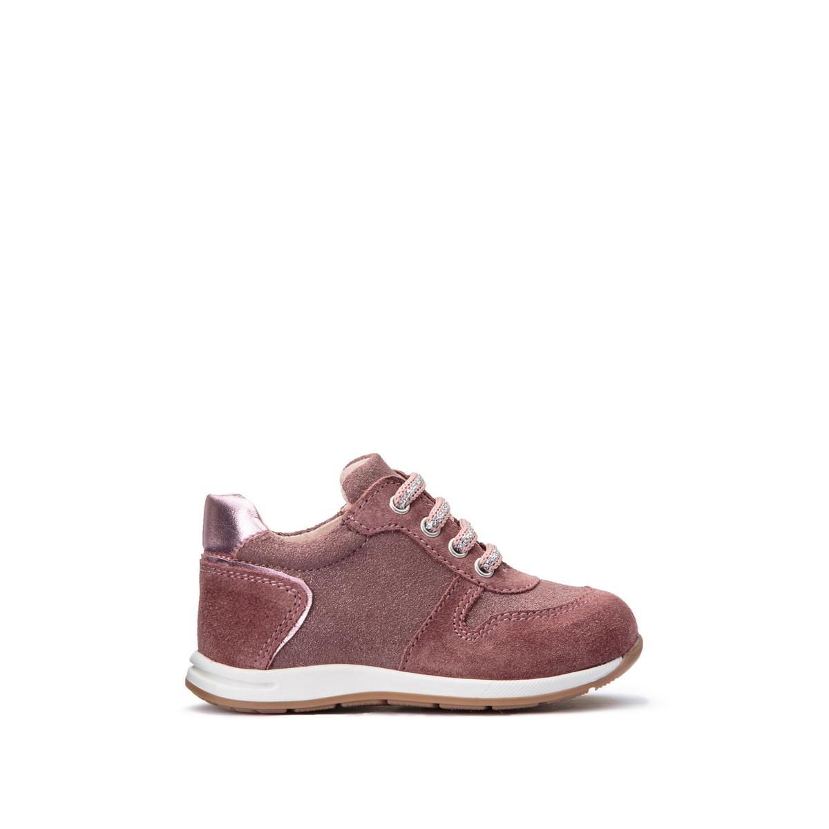Кеды La Redoute Кожаные на шнуровке размеры - 19 розовый набор happy box игрушка и карамель 18 г