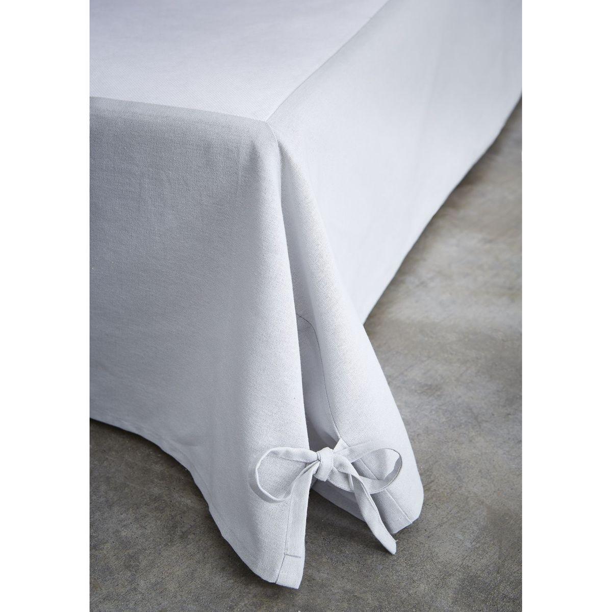 Cache sommier avec nouettes - 140 x 190 cm