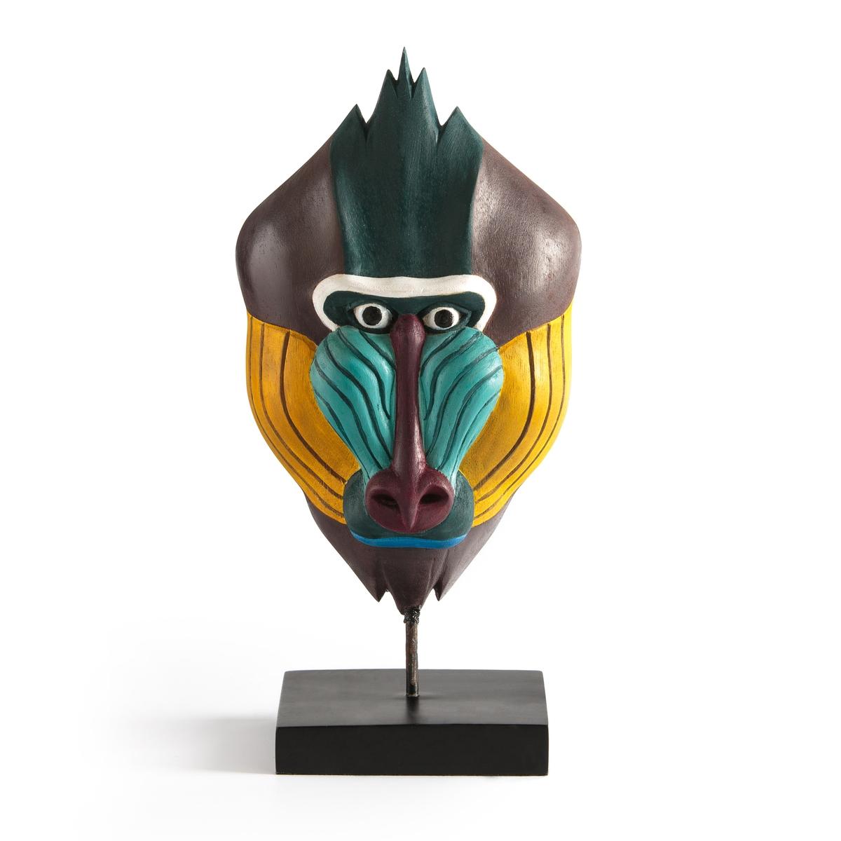 Маска La Redoute Обезьяны из дерева NYALA единый размер разноцветный стакан двойной veragio stanford cromo vr std 7742 cr