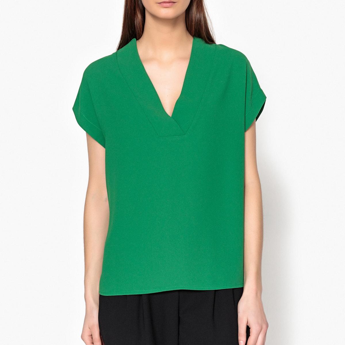 Блузка с короткими рукавами и перекрестным вырезом FABULOUS блузка кружевная с короткими рукавами