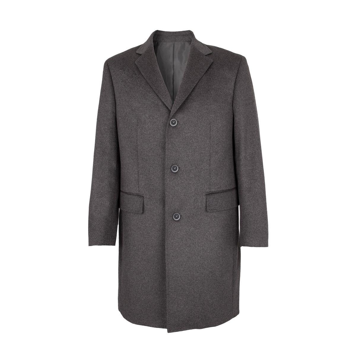 Manteau trois Quart 100% Cachemire Gris Clair