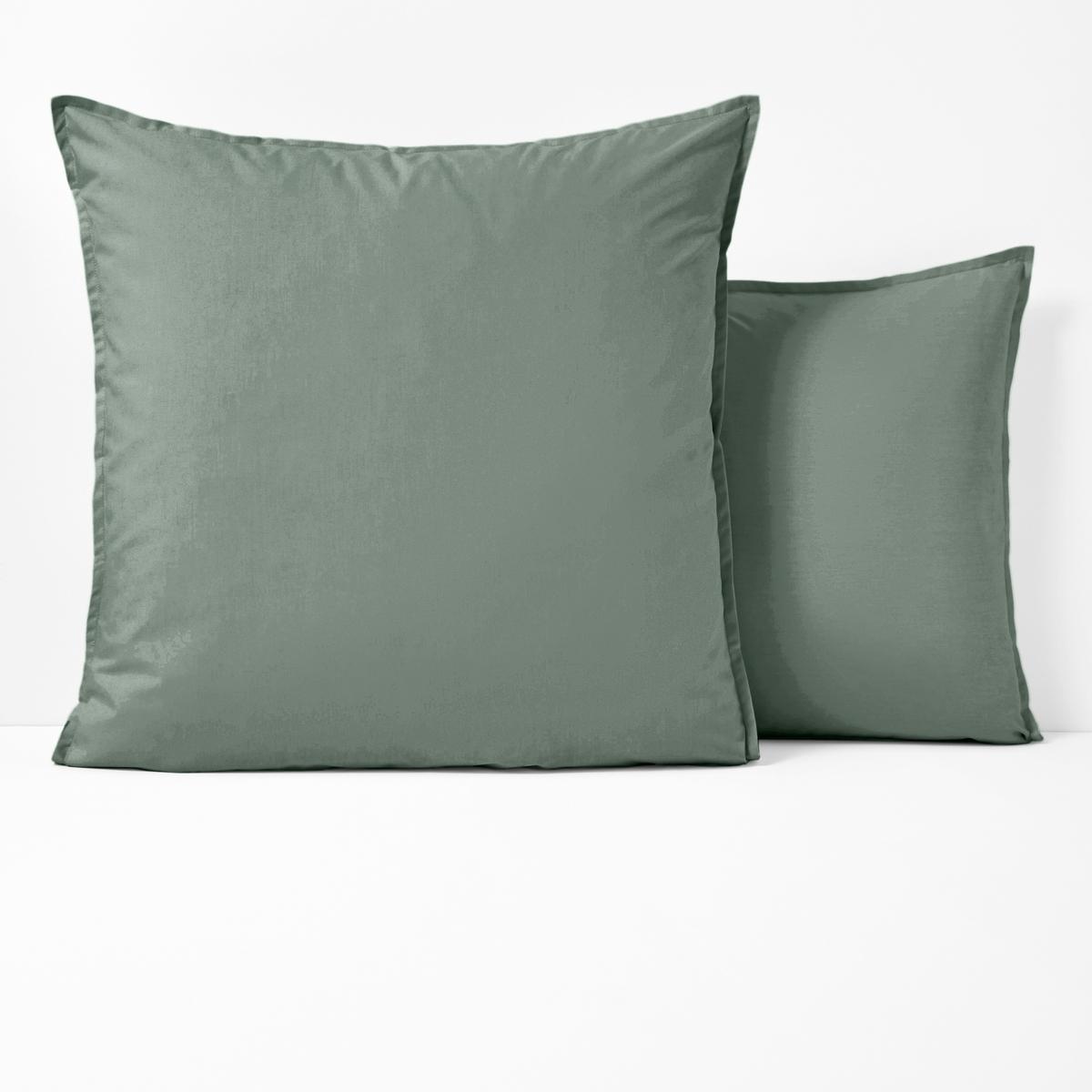 Наволочка La Redoute Из перкали из биохлопка 50 x 70 см зеленый наволочка la redoute из перкали из биохлопка 50 x 70 см зеленый