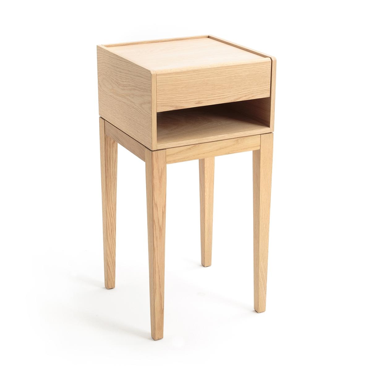 Столик прикроватный  Nizou, Design E.GallinaПрикроватный столик без излишек. Один материал, простота и утонченность - главные характеристики этого изделия. Высокие и утонченные ножки, практичные комоды - предметы утонченной коллекции, которые естественным образом впишутся в Ваш интерьер.Дизайнер - Эммануэль Галлина. Элегантность, очевидность и простота - ключевые критерии его работ, которые отличают тонкая проработка деталей, формы и функциональности каждой модели .Описание :- Модель натурального цвета: из дубовой фанеры с полиуретановой отделкой, модель серого цвета с покрытием краской.- 1 ящик- 1 ниша с отверстием для проводов. - Ножки из массива дуба с полиуретановой отделкой.Размеры :   - Ш.35 x В.72 x   Г.35 см.- Внутренние размеры ящика: Ш.27,5 x В.5,5 x Г.28,5 см- Внутренние размеры ниши: Ш.32 x В.8 x Г.33,5 смРазмеры и вес упаковки:- Ш.63,5 x В.30,5 x  Г.52 см, 12 кг<br><br>Цвет: натуральный дуб,серый