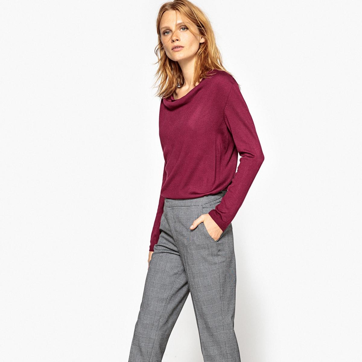 Пуловер с воротником-качелями