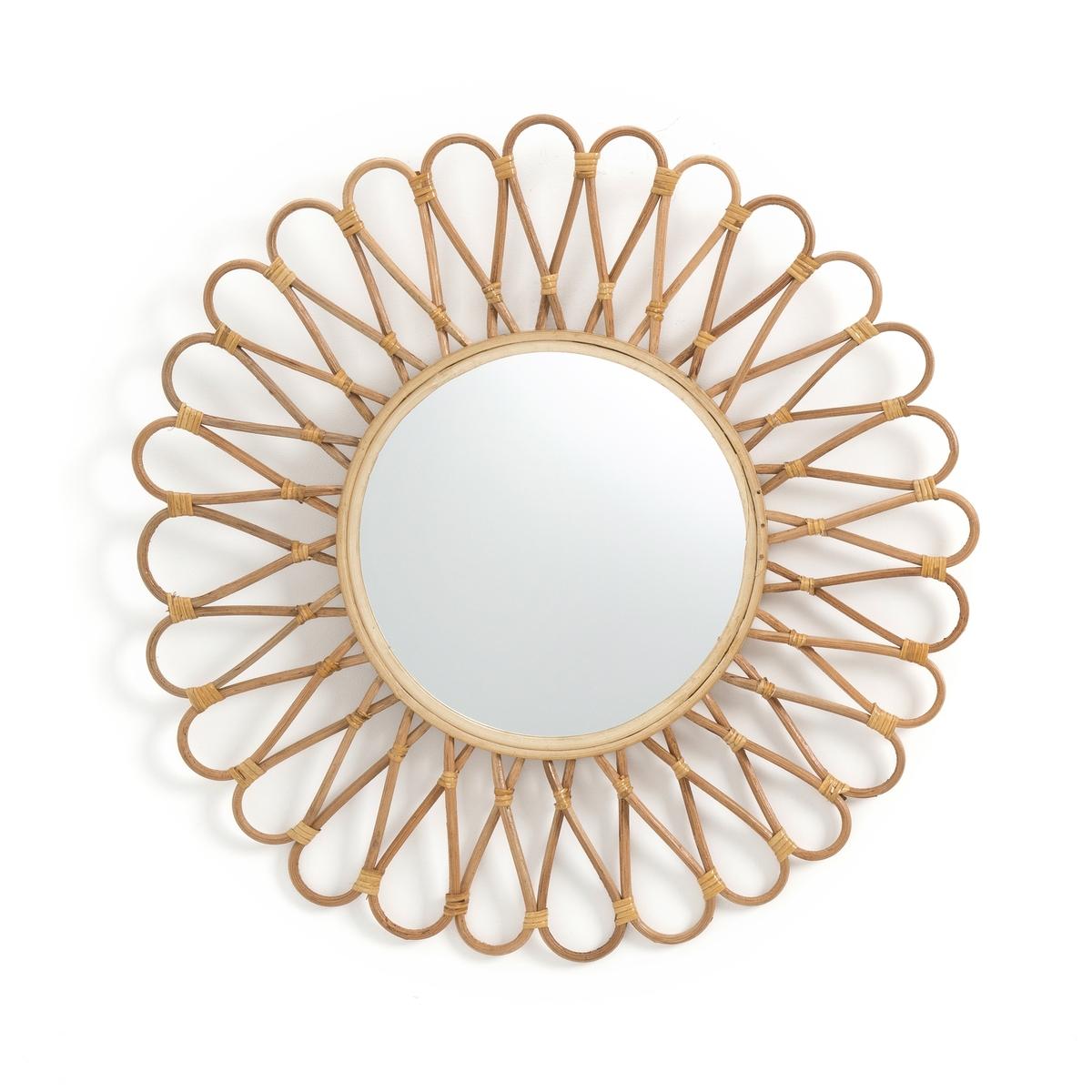 Зеркало La Redoute С ротангом и бамбуком в форме солнца см Nogu единый размер бежевый зеркало la redoute из ротанга в форме яблока nogu единый размер бежевый