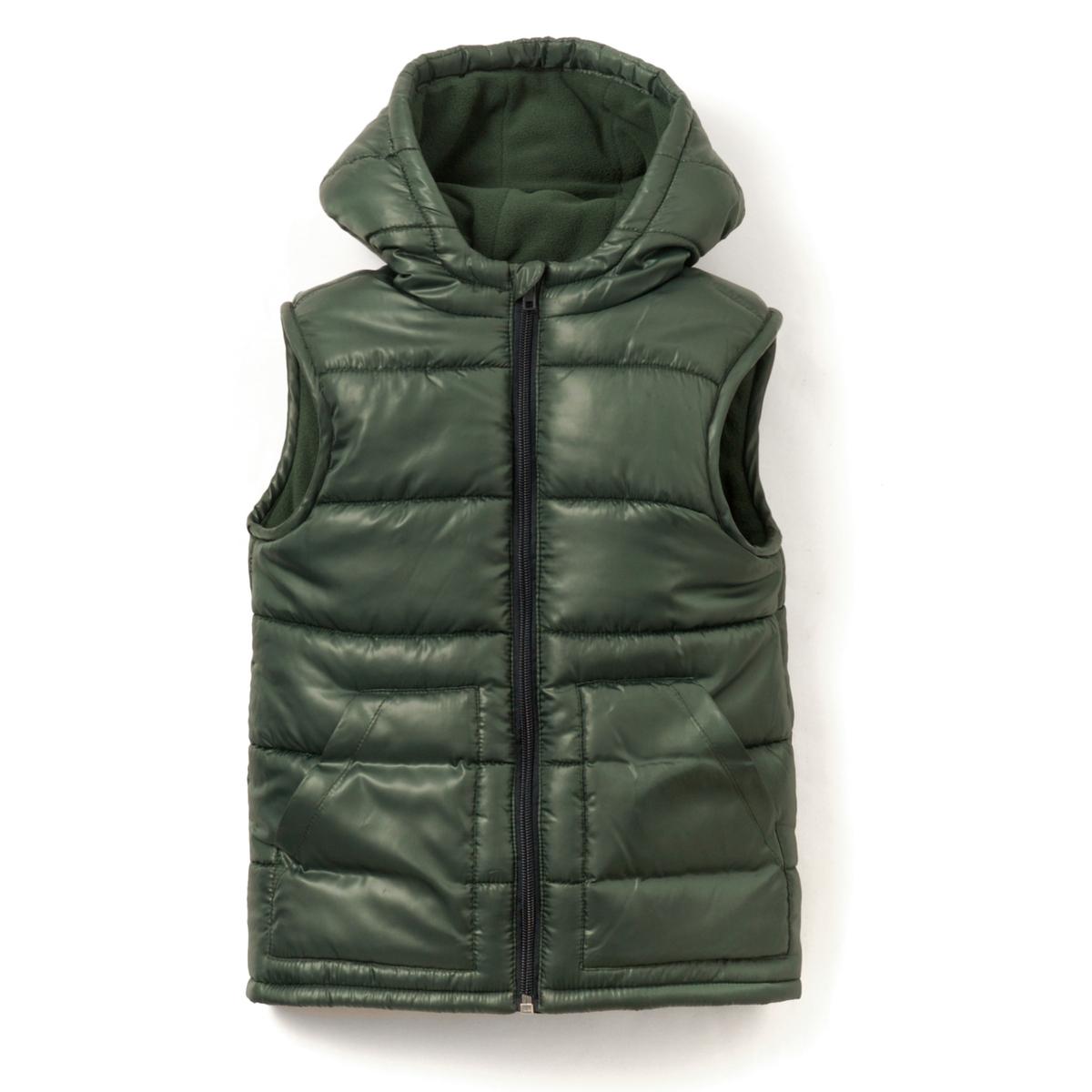 Куртка без рукавов с капюшоном, 3-12 лет