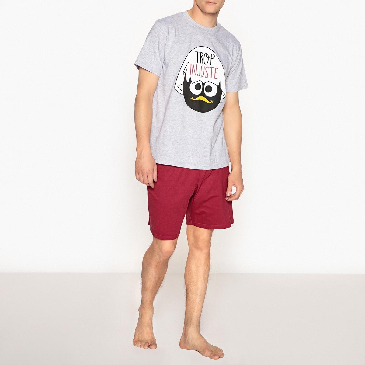 Пижама с шортами из хлопка с принтом Calimero цены онлайн