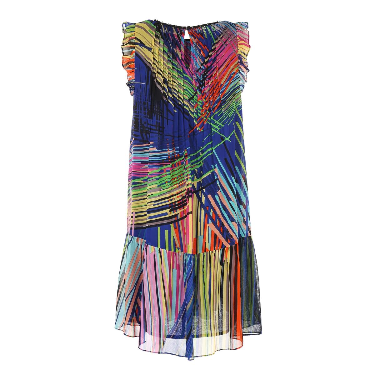 Платье расклешённое с графичным рисунком от La Redoute