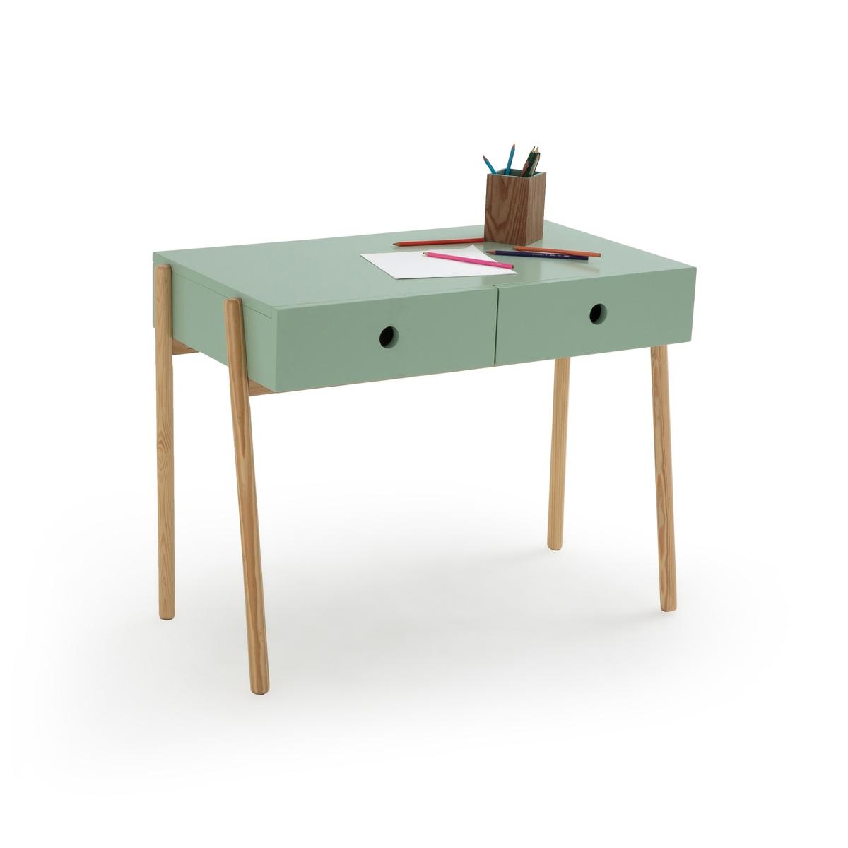 Стол La Redoute Письменный детский с ящиками Wallet единый размер зеленый стол письменный из массива сосны gaby