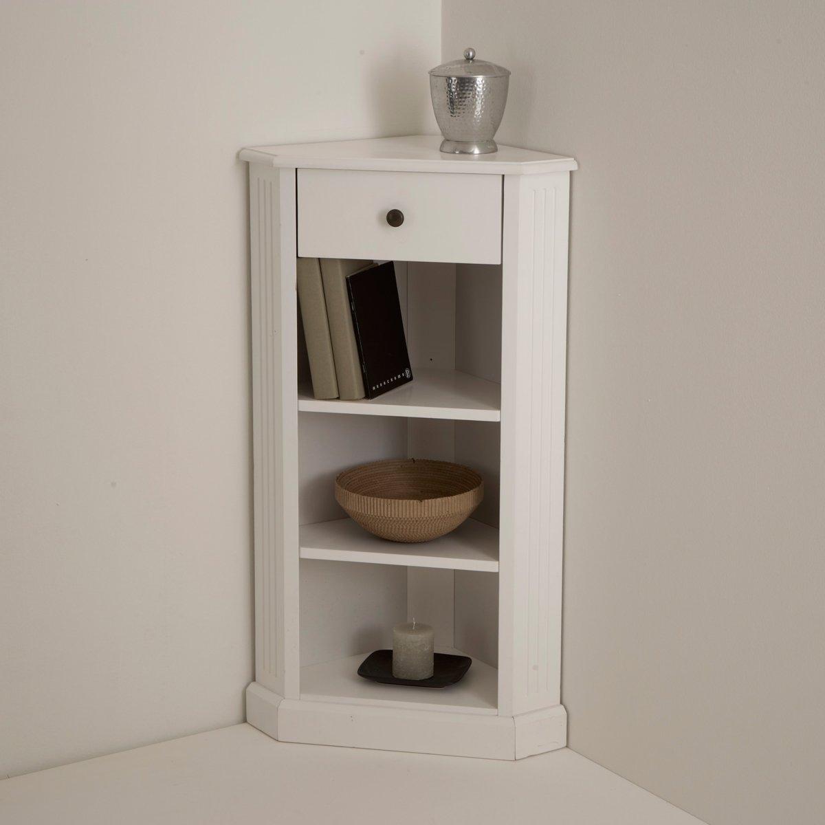 Угловой столик, покрытие лаком белого цвета, Authentic Style