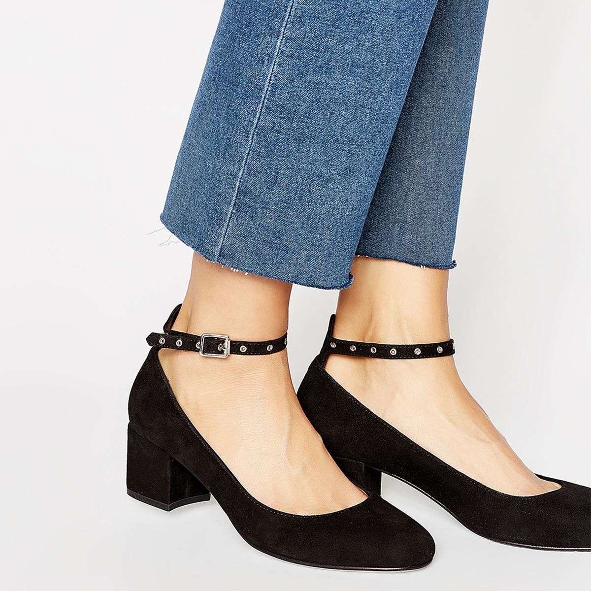 Туфли кожаные на ремешке туфли napoleoni туфли на среднем каблуке
