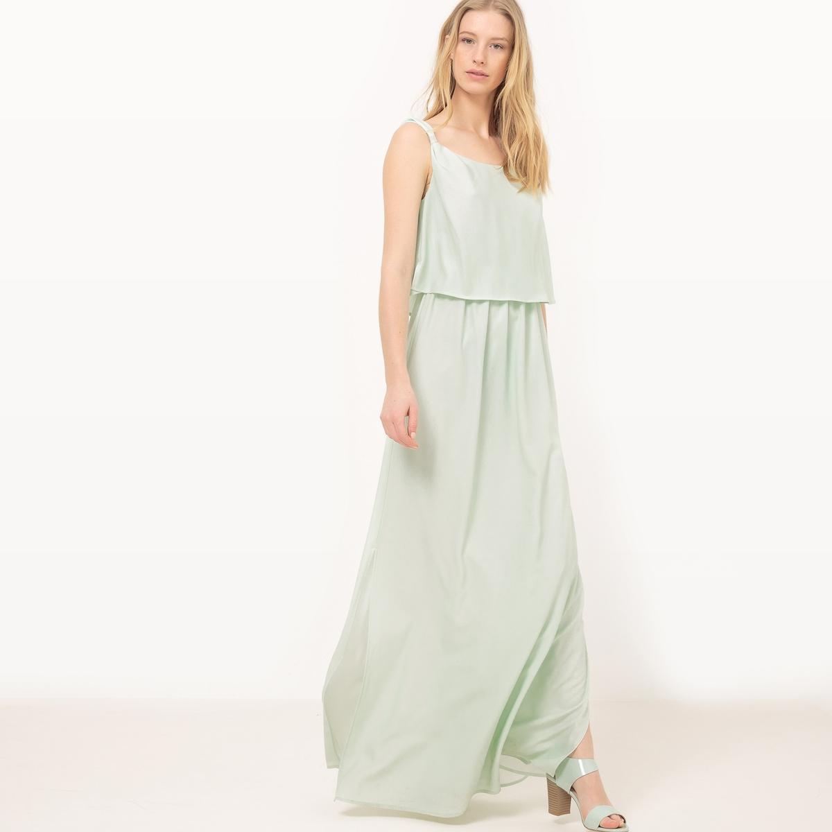 Платье длинное без рукавов