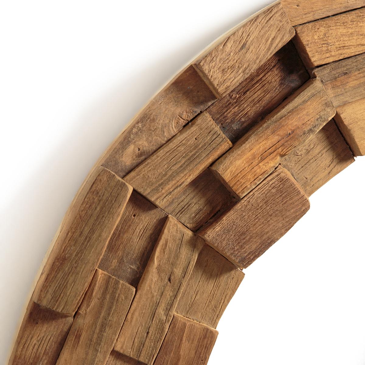 Зеркало из тикового дерева Ø80 см, Romania