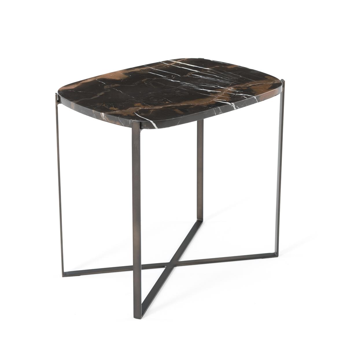 Столик журнальный прямоугольный . мрамор янтарного цвета/металл Arambol