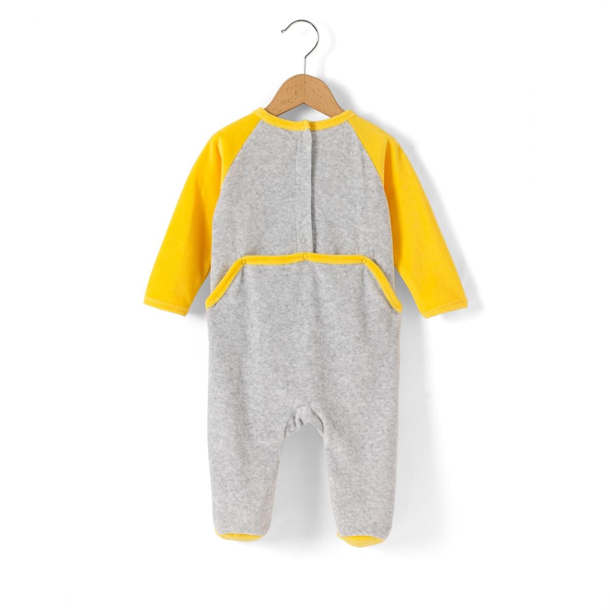 Пижама для мальчика, 3 мес. - 2 годаПижама для мальчика DE BARBAPAPA. Застежка на кнопки с клапаном сзади : практично для легкого одевания детей. Рисунок BARBAPAPA спереди. Длинные рукава.     Состав и описание     Материал       80% хлопка, 20% полиэстера      Марка       BARBAPAPA          Уход     Следуйте рекомендациям по уходу, указанным на этикетке.<br><br>Цвет: серый/ желтый<br>Размер: 2 года - 86 см.1 год - 74 см.6 мес. - 67 см