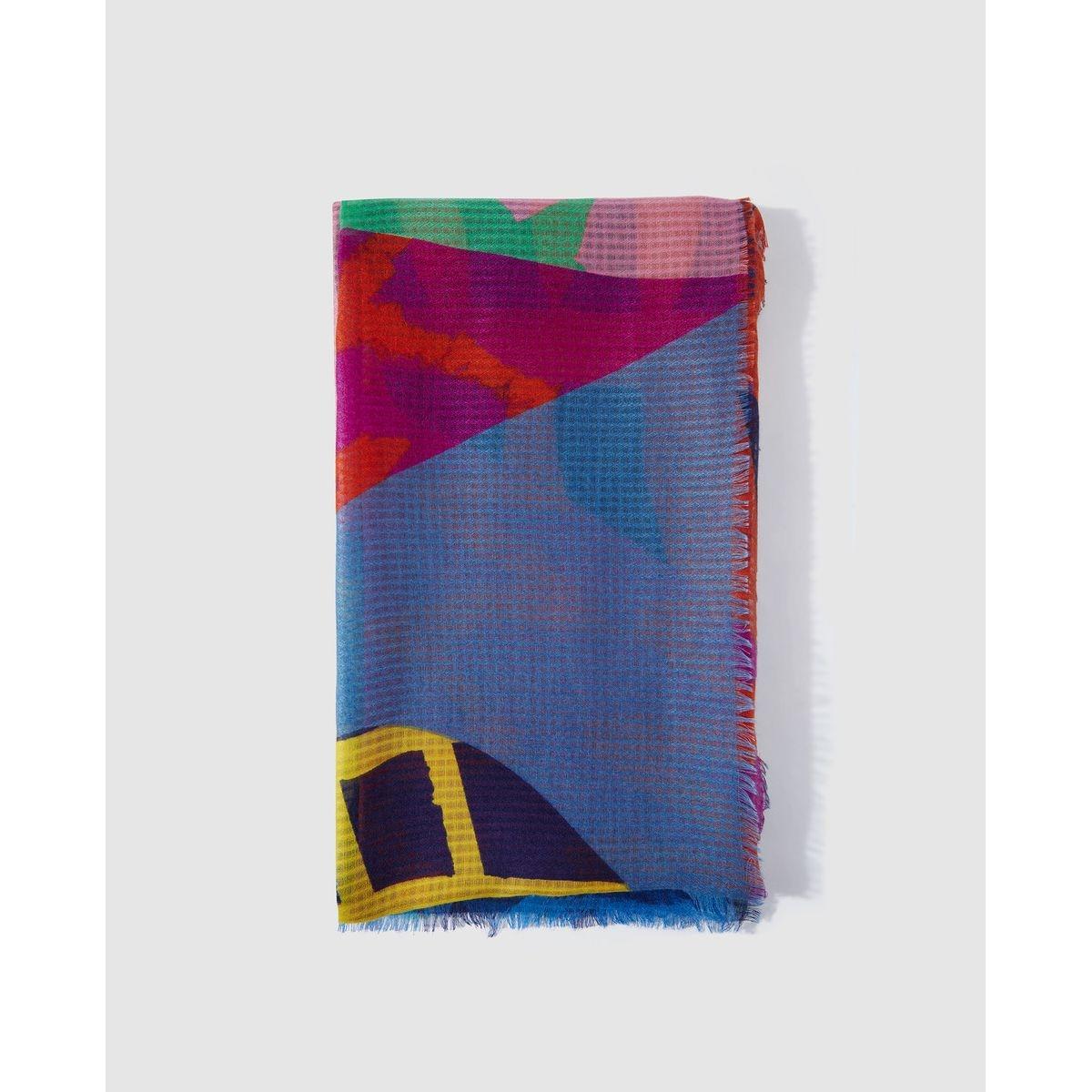 Grand foulard patchwork