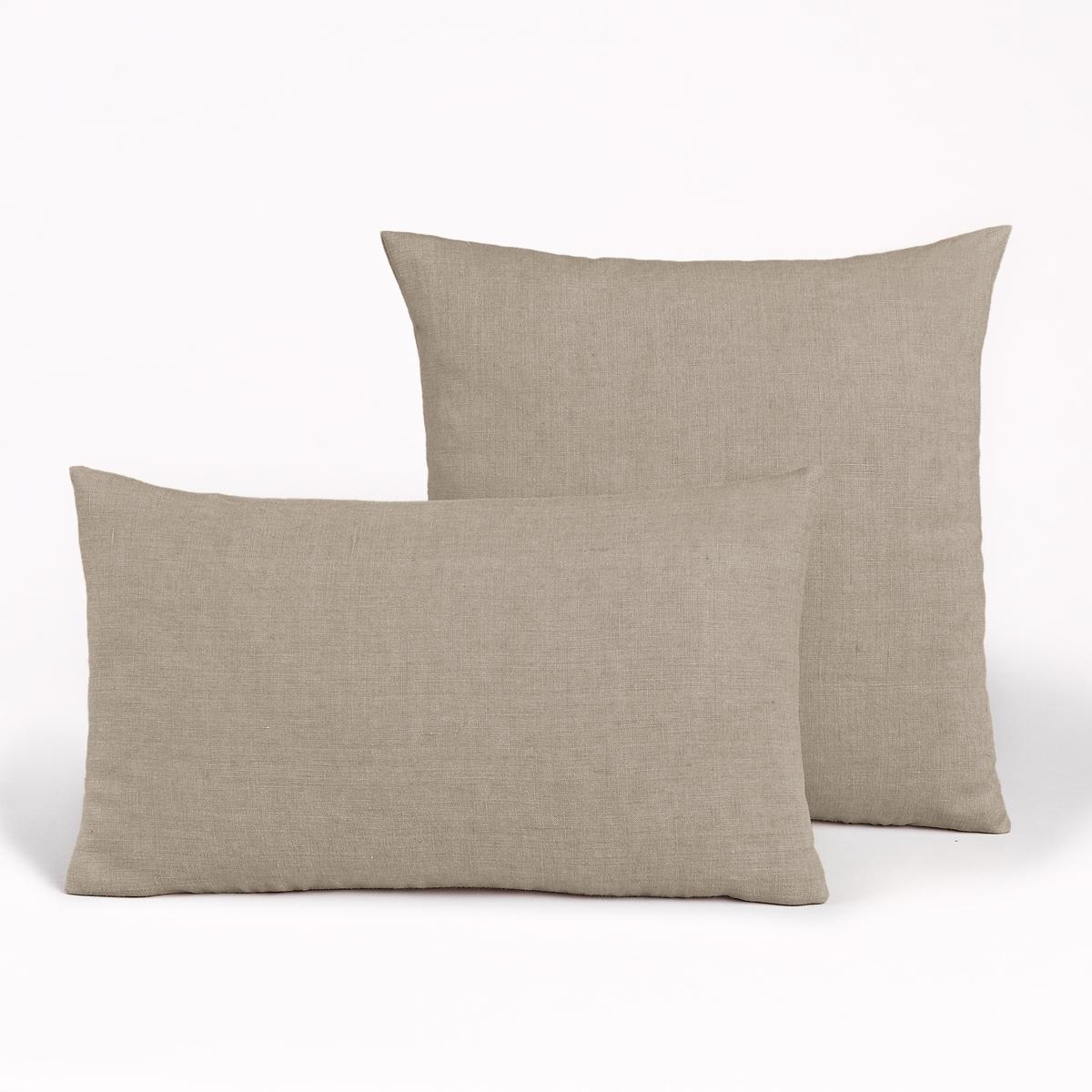 Льняной La Redoute Чехол для подушки Georgette 50 x 30 см бежевый льняной la redoute чехол для подушки georgette 50 x 30 см желтый