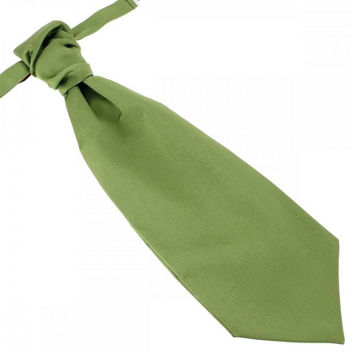 Lavallière nouée en soie, vert Mela, Faite à la main