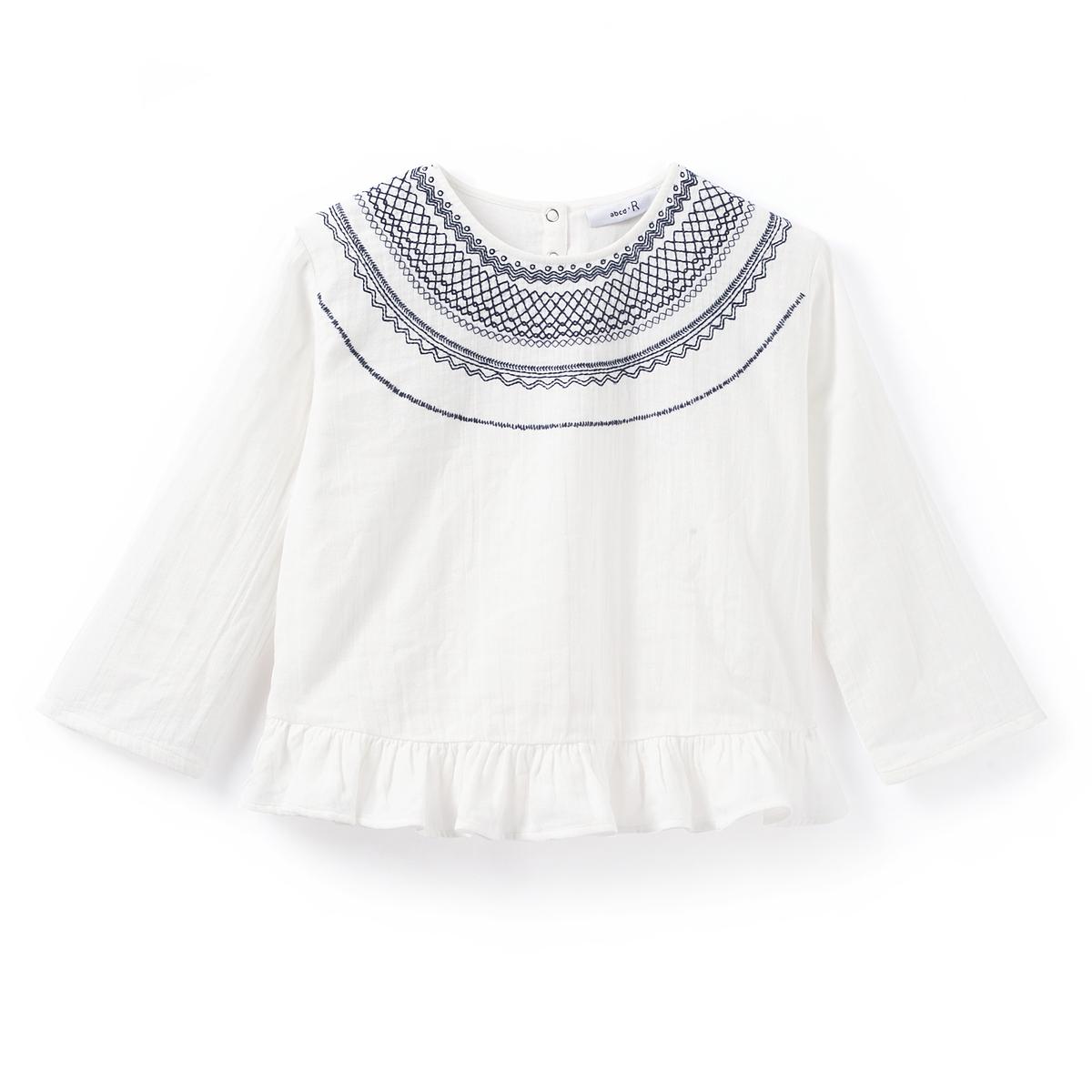 Блузка c вышивкой в стиле фолк 3-12 лет