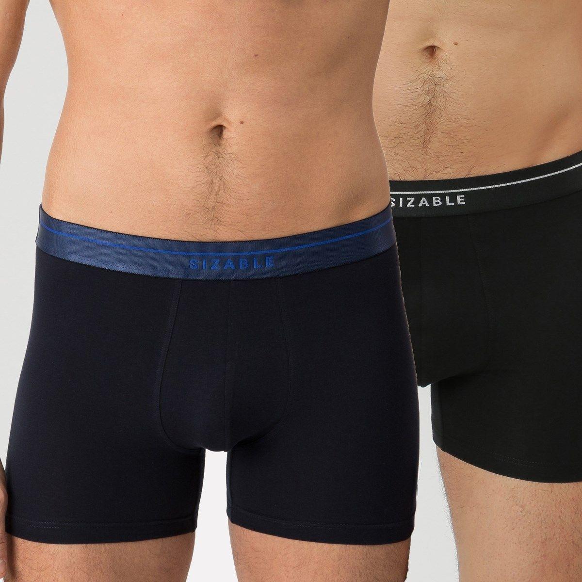 Lot de 2 boxers en coton bio avec ceinture élastique