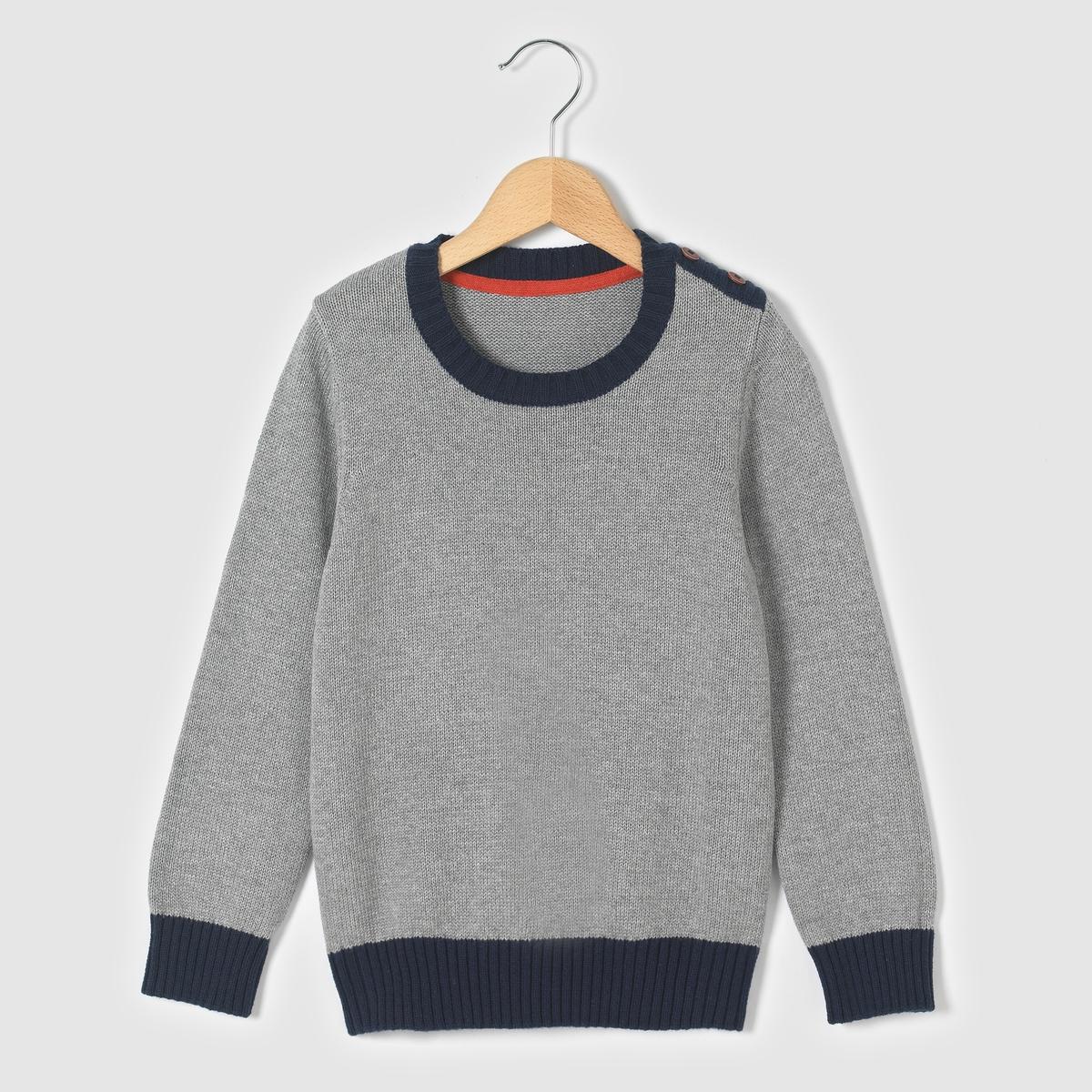Пуловер однотонный