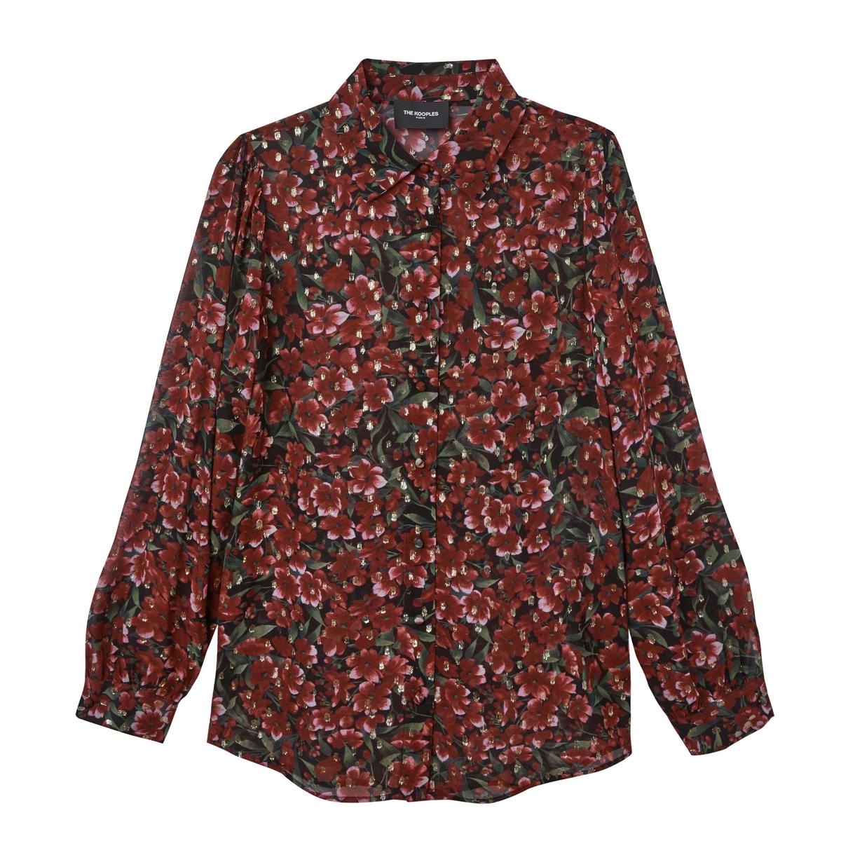 Camisa estampada irisada de manga larga