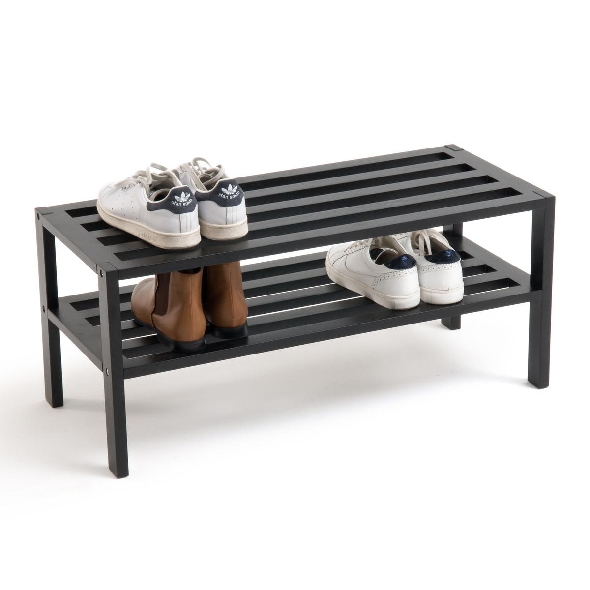 Скамья для обуви из березы черного цвета интмагазин пластик полку для обуви