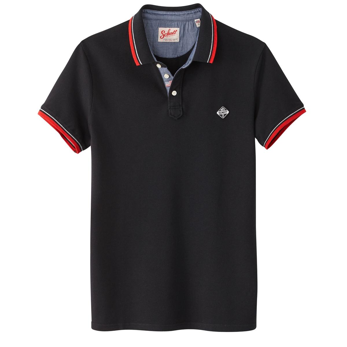 Футболка-поло с короткими рукавами PS Harbour из трикотажа пике футболка поло в полоску из трикотажа пике