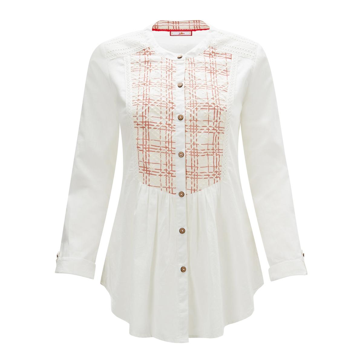 Рубашка La Redoute С вышивкой и круглым вырезом с длинными рукавами 38 (FR) - 44 (RUS) белый корпус электростандарт щмп 3 1