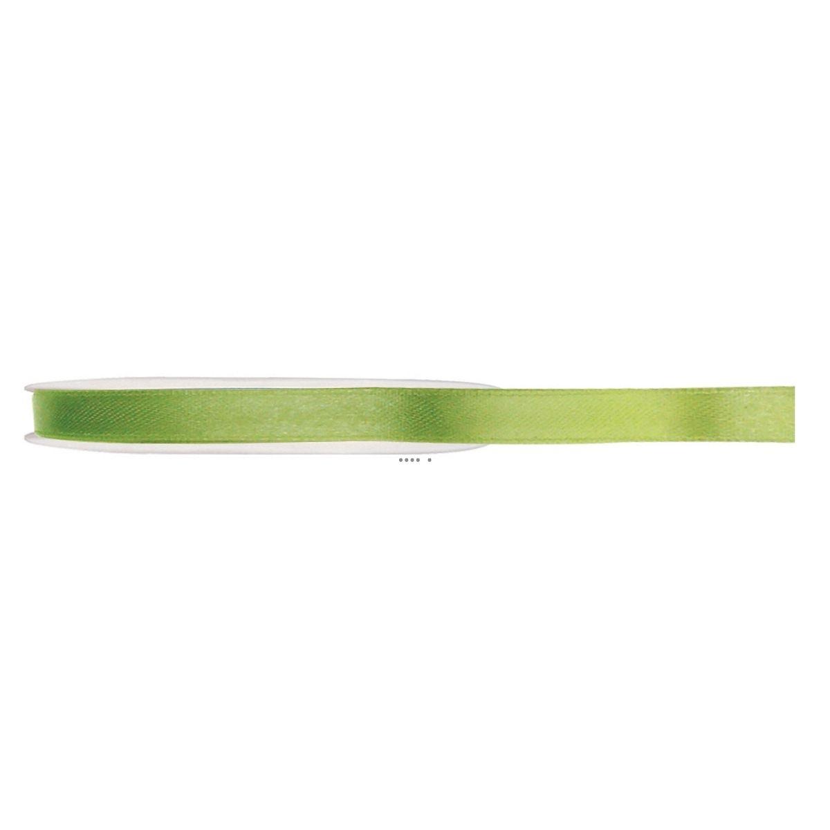 Ruban Tout Satin Vert Anis 6 mm bobine de 25 m - choisissez votre couleur: VERT ANIS