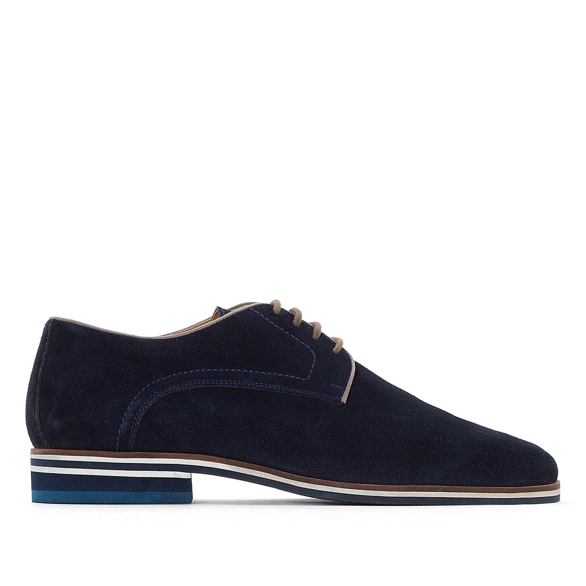 Ботинки-дерби из спилка на шнуровке ботинки из спилка