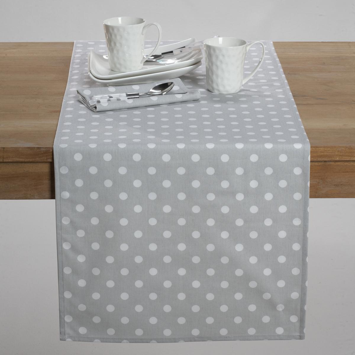Дорожка столовая ГАРДЕН ПАТИОписание столовой дорожки:100% хлопка.Стирка при 60°.Размеры столовой дорожки:45 x 145 см. Найдите подходящий столовый комплект на нашем сайте.<br><br>Цвет: красный/ белый,серо-коричневый,серый/ белый,фиолетовый/ белый<br>Размер: 45 x 150  см.45 x 150  см.45 x 150  см