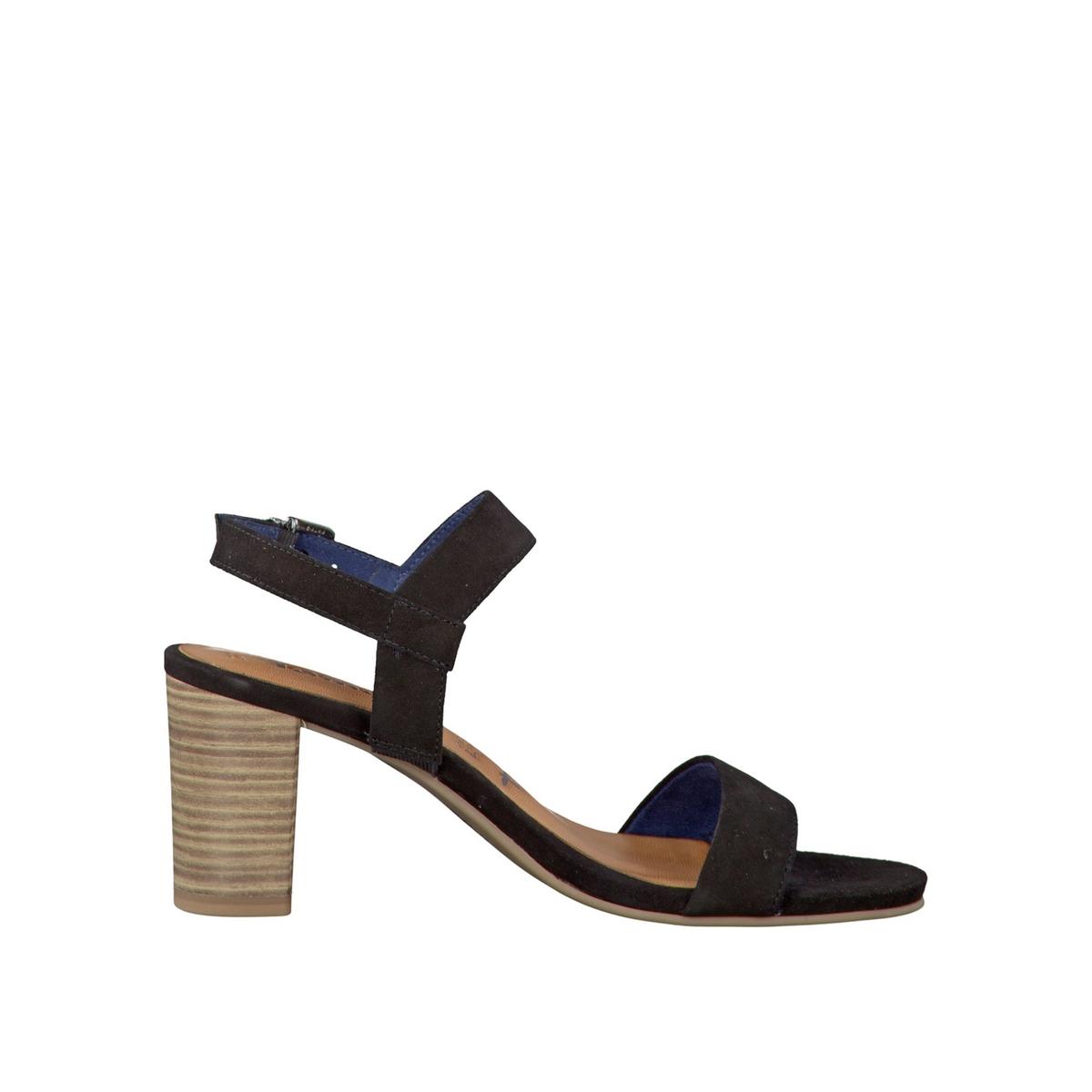 Босоножки кожаные 28321-28Верх/Голенище : кожа    Подкладка : текстиль    Стелька : кожа    Подошва : синтетика    Высота каблука : 7 см    Форма каблука : квадратный каблук    Мысок : закругленный мысок    Застежка : пряжка<br><br>Цвет: черный<br>Размер: 40