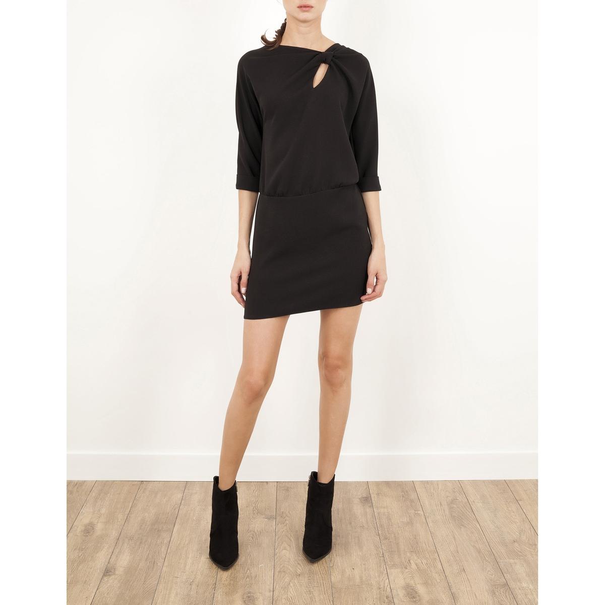 Платье с рукавами 3/4, и ремешком LENNY B, REPONSEСостав и описание :Материал : 100% полиэстераМарка : LENNY B<br><br>Цвет: черный