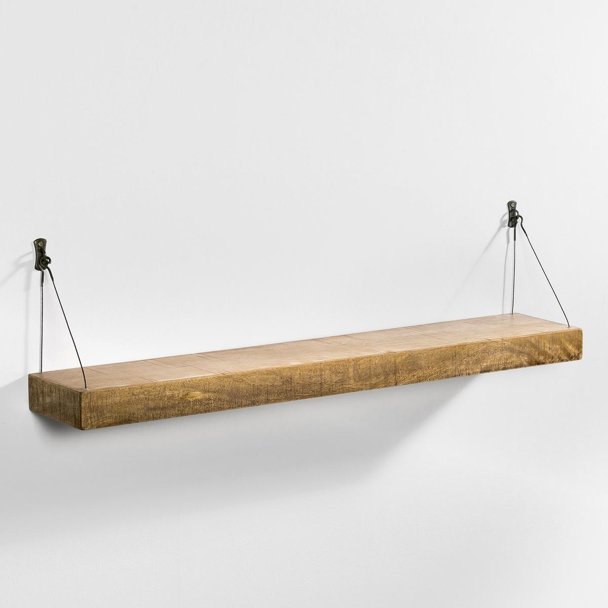 Полка настенная Дл. 110 см, RootsПолка настенная Roots. Невероятно легкая с тросиками для фиксации...Характеристики:- Столешница из мультиплекса (для большей легкости), отделка под старину.- Крепление на металлических тросиках и 2 скобках на стену.Размеры:- 110 x 20 см.- Длина тросика 26 см спереди (20 см сзади).- Толщина столешницы 6,5 см<br><br>Цвет: белый,серо-бежевый<br>Размер: единый размер