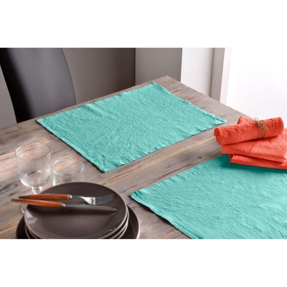 lot de 2 serviette lin et coton