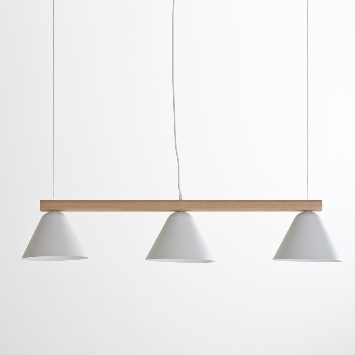 Светильник длинный, CotapiСветильник длинный Cotapi. Светильник с 3 абажурами Cotapi  в индустриальном стиле крепится на потолок на необходимой высоте над центральной зоной или над обеденным столом.Описание длинного светильника Cotapi :Патрон E27 для лампочки 40W (не входит в комплект) .Этот светильник совместим с лампочками    энергетического класса   : A, B, C, D, E.Описание длинного светильника Cotapi :Каркас из массива ясеня с матовым покрытием и металла с белым матовым покрытием .Абажур с белым матовым покрытием . Найдите подходящие светильники и другие модели из коллекции Cotapi на сайте laredoute .Размеры светильника Cotapi :Длина : 104 смГлубина : 22,5 смВысота : макс 73 см (регулируется по высоте)Абажур: Выс16 x ?22,5 см<br><br>Цвет: белый