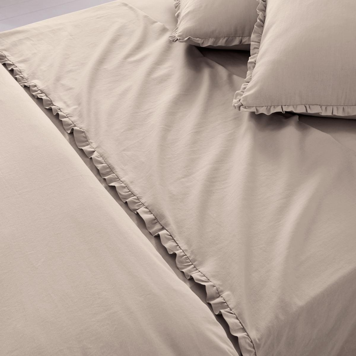 Простыня Ondina, 40% льнаПростыня Ondina из смесовой ткани для изысканной спальни! Описание простыни Ondina :- Смесовая ткань: 60% хлопка, 40% льна, натуральный и прочный материал. Очень мягкая и приятная ткань..Стирка при 60°.- Отделка двойным воланом, складки.Размеры:180 x 290 см: 1-сп. 240 x 290 см: 2-сп. 270 x 290 см: 2-сп.<br><br>Цвет: антрацит,белый,светло-бежевый,серо-фиалковый<br>Размер: 270 x 290  см.180 x 290  см