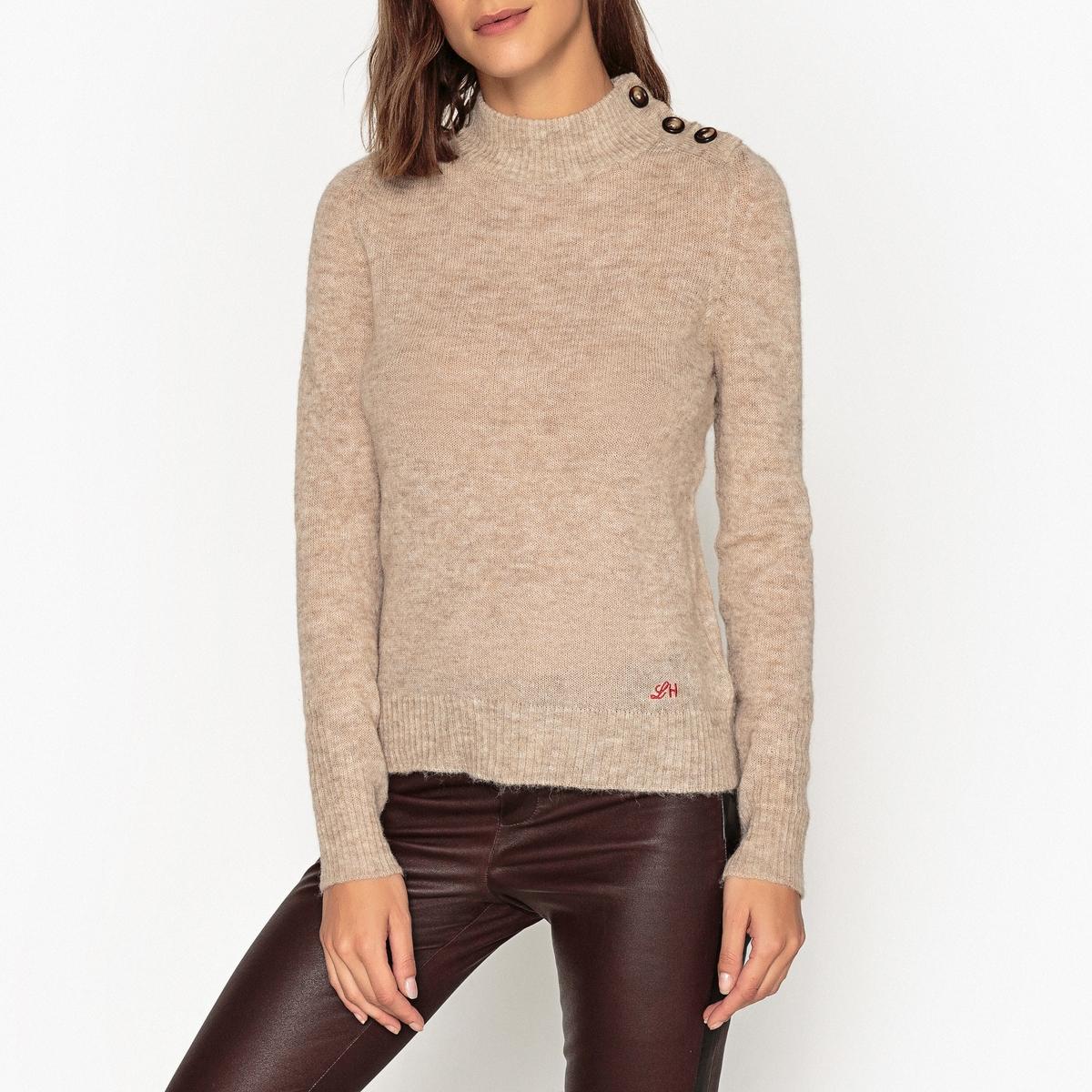 Пуловер с воротником-стойкой из тонкого трикотажа MIMOSA женский пуловер brand new 2015