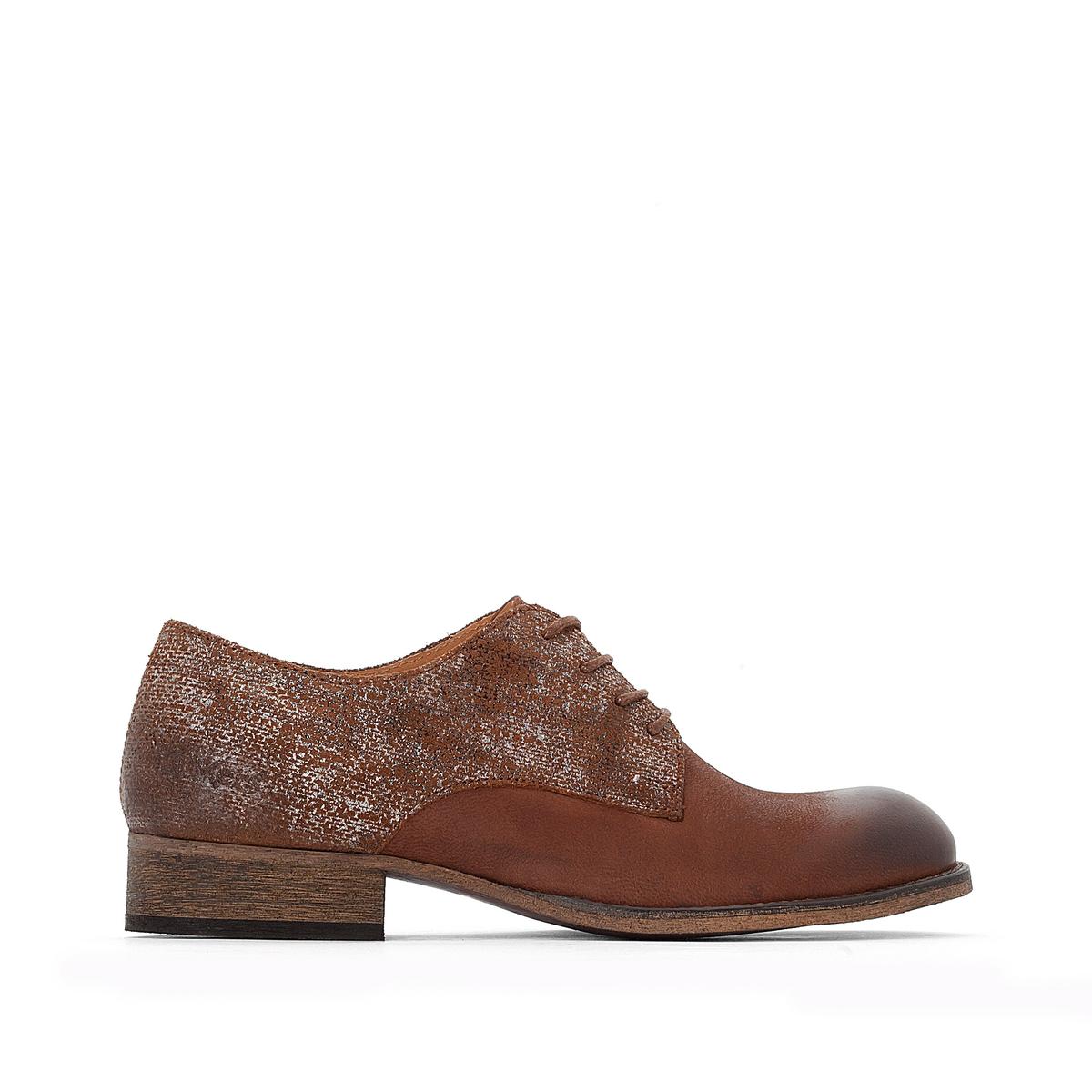 Ботинки-дерби кожаные двухцветные Punkylace