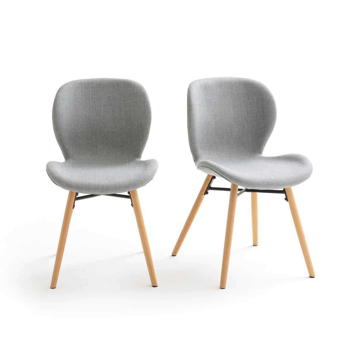 Chaise (lot de 2) design, revêtement tissu, CRUESO
