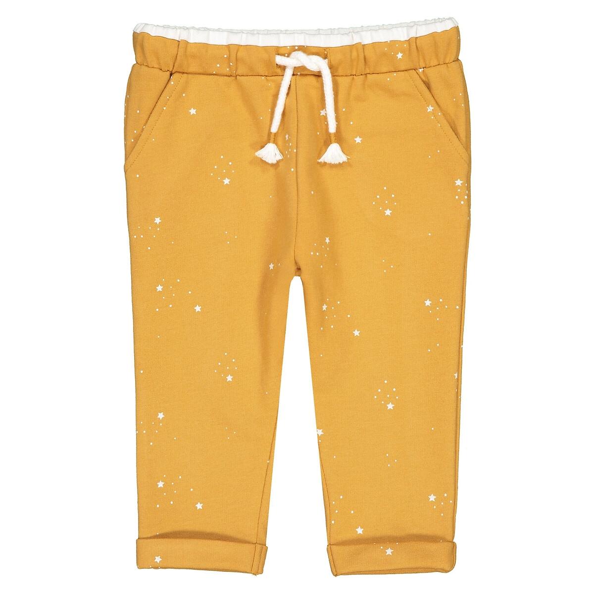 Фото - Брюки LaRedoute Из мольтона с рисунком звезды 1 мес - 3 года 3 мес. - 60 см желтый брюки laredoute из мольтона с бантом 1 мес 3 года 9 мес 71 см розовый