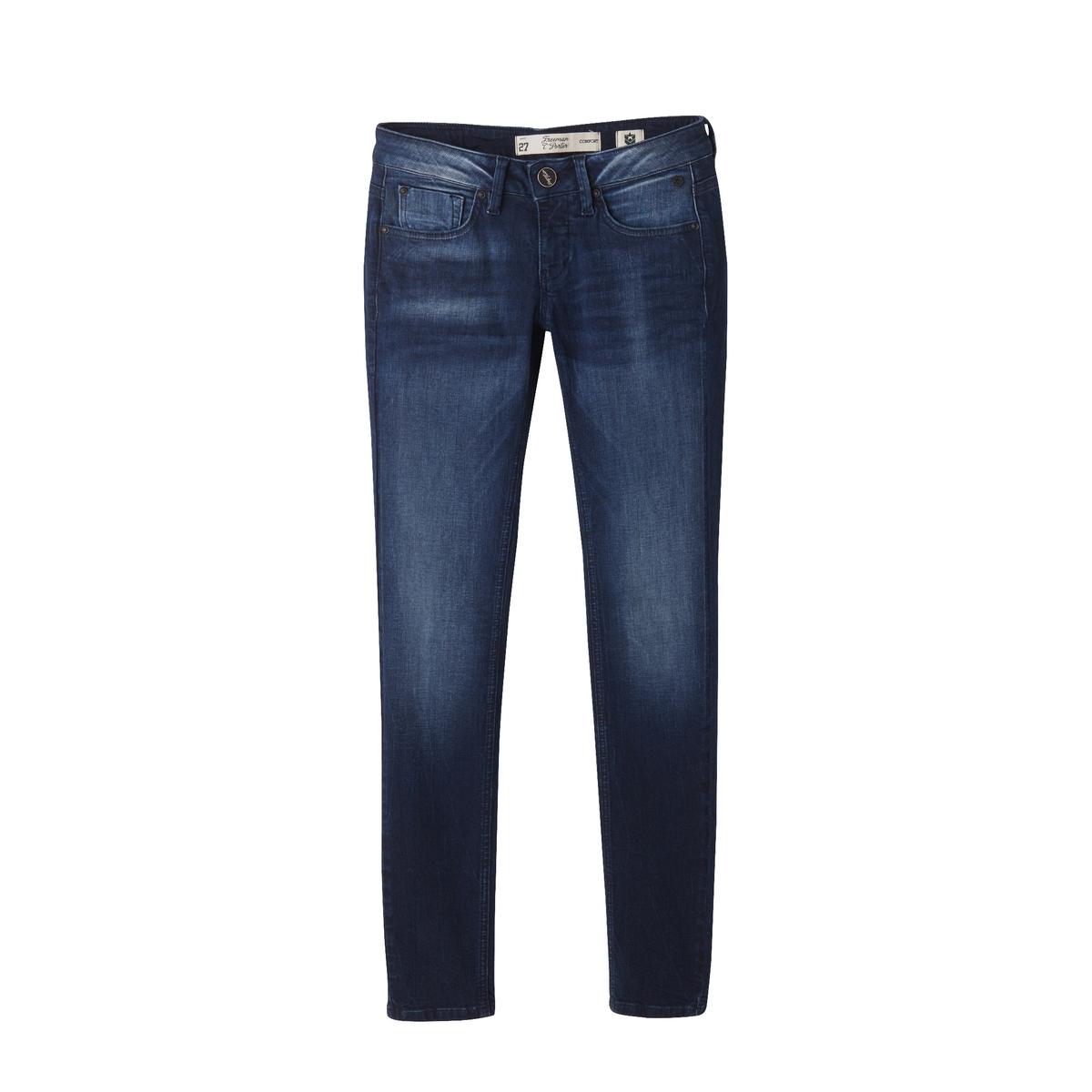 Узкие джинсыДетали •  Узкие •  Стандартная талия Состав и уход •  97% хлопка, 3% эластана •  Следуйте советам по уходу, указанным на этикетке<br><br>Цвет: темно-синий линялый