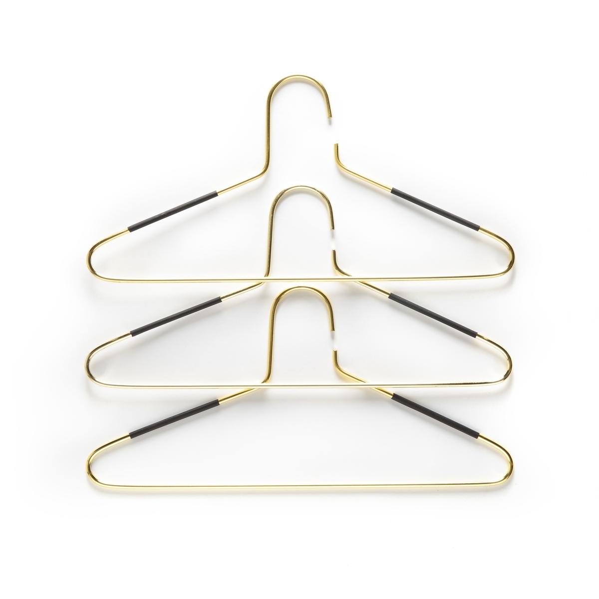 Комплект из 3 вешалок золотистого La Redoute Цвета DRENIA единый размер желтый комплект из 2 вешалок koishi la redoute la redoute единый размер черный