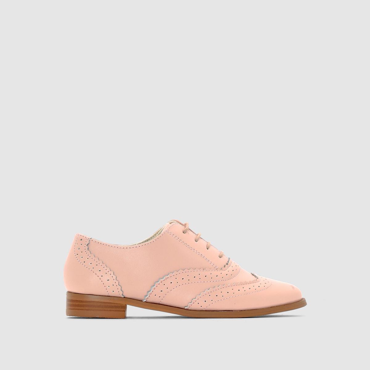 Ботинки-дерби из кожи с перфорацией от La Redoute